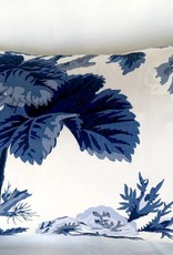 "Ashley Meier Fine Linens Schumacher Pyne 14"" x 24"" - Indigo"