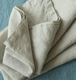 "Ashley Meier Fine Linens Stonewashed Linen 21"" Napkin - Silver"