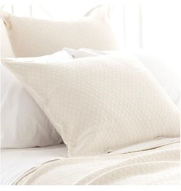 Pine Cone Hill Diamond ivory Matelasse sham - king