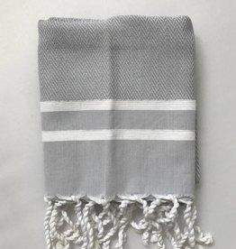 Scents and Feel Guest towel herringbone, Grey/White stripes
