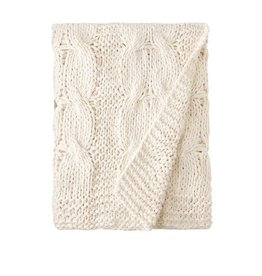 Amity Home Micah knitted cotton Throw Natural