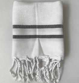 Scents and Feel Guest towel herringbone, White/Black stripes