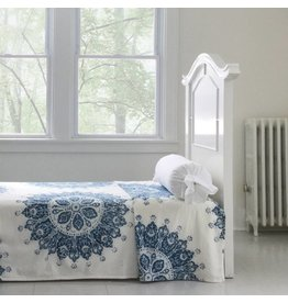 Les Indiennes Les Indiennes Celestine twin bed cover- indigo