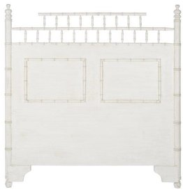 Phillips/Scott Queen Canton Bamboo Headboard -Satin Snow Finish