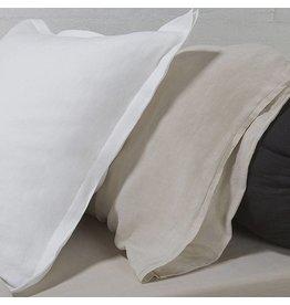 """Vintage linen Dec pillow - off-white, 24"""" x 24"""""""