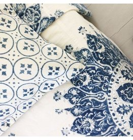 "Les Indiennes Les Indiennes ""Celestine"" Summer Bed Cover Indigo Full/Queen"