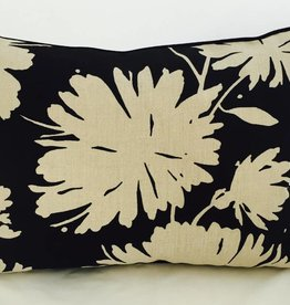 Legacy Linens 14x20 Pillow-Piped-Daisyfield Black