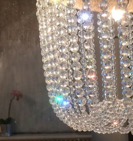 Ro Sham Beaux Malibu Ice Chandelier with Rope & Nickle Detail