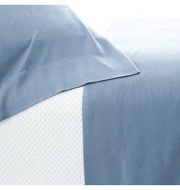 Pine Cone Hill Silken Solid Storm Blue Sheet Set Queen