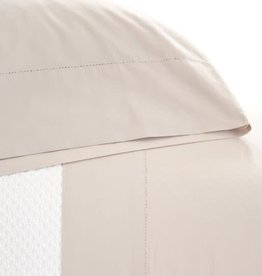 Pine Cone Hill Classic Hemstitch Platinum Sheet Set Queen