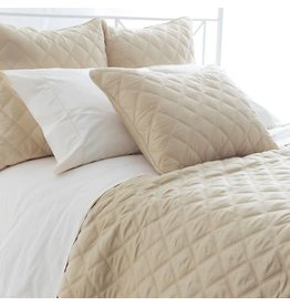 Pine Cone Hill Quilted silken queen coverlet in sand
