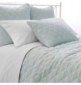 Pine Cone Hill Quilted silken solid robins egg blue - Euro