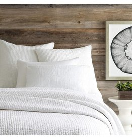 Pine Cone Hill Seychelles Dove White Quilted Euro