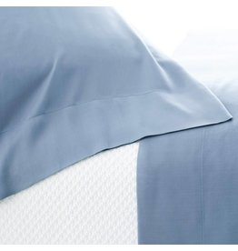 Pine Cone Hill Silken Solid Storm Blue Pillowcases Standard