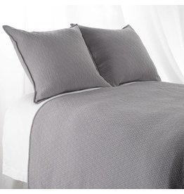 "India's Heritage Euro Sham ""INDI"" Diamond Mattelasse Dark Grey"