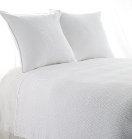 "India's Heritage King ""INDI"" Coverlet Diamond Mattelasse White"