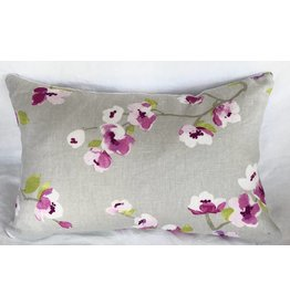 Orchid Blossom designer pillow 12x18