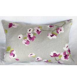 Orchid Blossom designer pillow 12x18