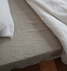 Ashley Meier Fine Linens Ashley Twin Stone Washed Flat Sheet Natural