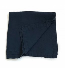 "Ashley Meier Fine Linens Stonewashed Linen 21"" Napkin - Navy Blue"