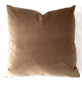 Ashley Meier Fine Linens AM Velvet Pillow 22x22, Yam