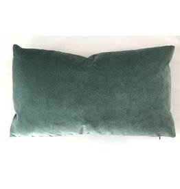 Ashley Meier Fine Linens AM Velvet Lumbar Pillow 14x24, Jade