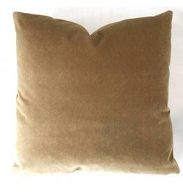 Ashley Meier Fine Linens AM Velvet Pillow 22x22, Nutmeg