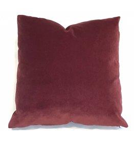 Ashley Meier Fine Linens AM Velvet Pillow 22x22, Currant