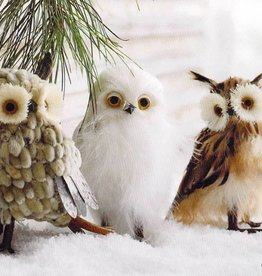 Roost Botanic Owl Ornaments Set of 3