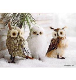 Roost Botanic Owl Ornaments Set of 3