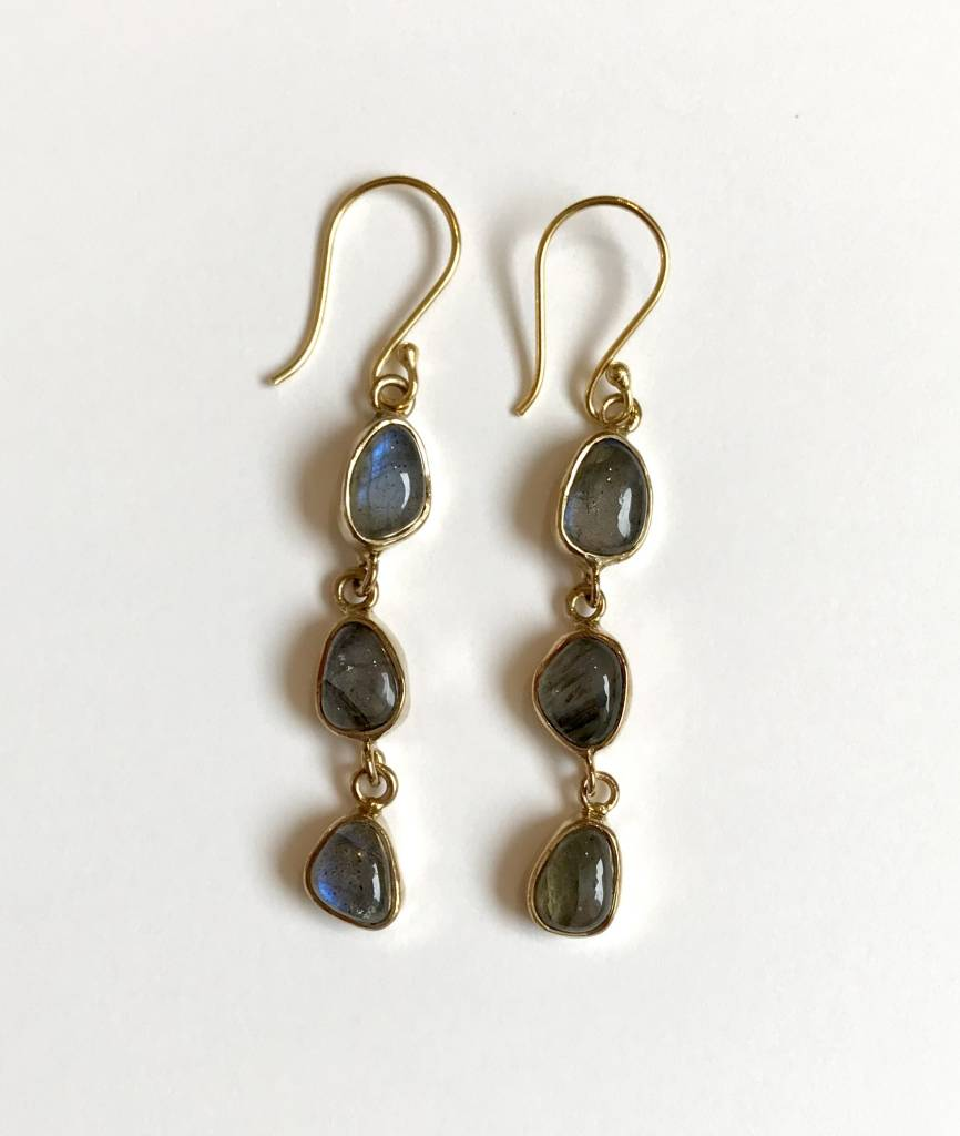 Roost Labradorite Cabochon Dangle Earrings