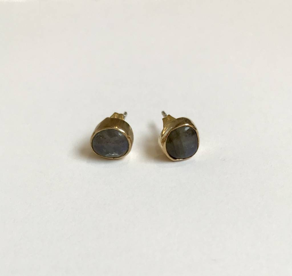 Roost Labradorite Cabochon Post Earrings