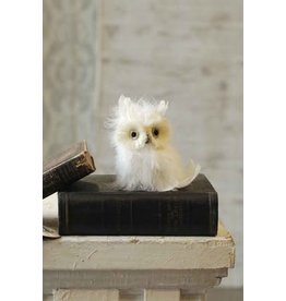 """Vintage Floral Imports 4.75"""" Snowy Owl"""