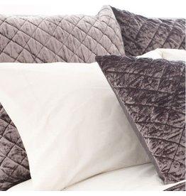 Pine Cone Hill Quilted Euro Pillow Sham Matte Velvet