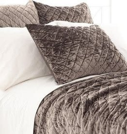 Pine Cone Hill Quilted Standard Pillow Sham Matte Velvet