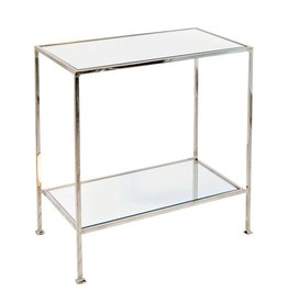 Worlds Away 2-Tier Nickel Plated Side Table