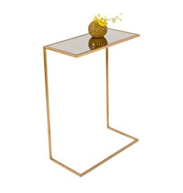 Worlds Away Gold Leafed Side Table