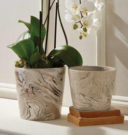 Tozai Marbleized Planters-Small