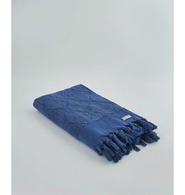 Ivy Columbus/Jacquard Towel Royal Blue
