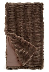 Donna Saylers Fabulous Furs Faux Fur Couture Throw 60x60 Chocolate