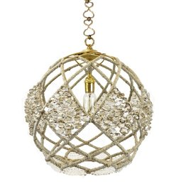 """Ro Sham Beaux Adelaide 16"""" Pendant with mirrored and clear crystal beads"""