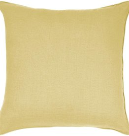 "India's Heritage Linen Cotton Pillow 20""- Yellow"