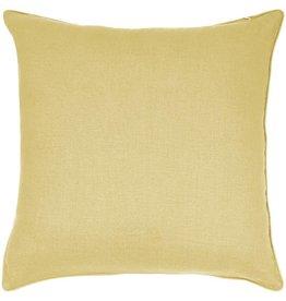 "India's Heritage Linen Cotton Pillow 20""- Yellow"