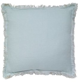 """India's Heritage Duck Egg Pure Linen Pillow 20"""" with insert"""