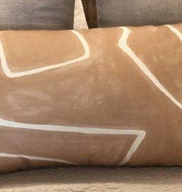 Kelly Wearstler Graffito Lumbar Pillow in Salmon Cream
