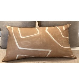 Kelly Wearstler Graffito Lumbar Pillow in Salmon Cream