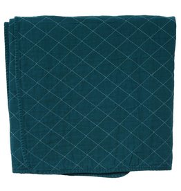 Quilted Throw Teal