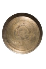 Round Found Decorative Brass Tray (Each One Will Vary)