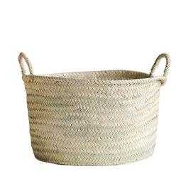 Hand-Woven Moroccan Basket w/ Handles