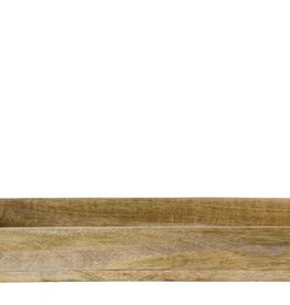 Mango Wood Tray w/ Metal Handles